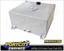 Aeroflow Alloy Fuel Cell 15 gallon 57L with Flat Bottom & Fuel Sender AF85-2151A