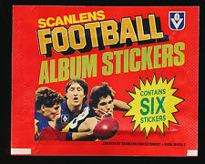 1984 Scanlens Stickers wrapper packet Football Album Sticker pack