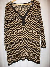 New Directions Woman 3/4 Sleeve 5169984 BL/CC Chev Sweater Weather Size 3X NEW