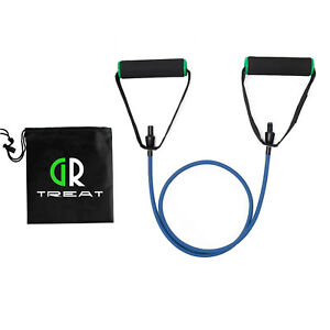 Resistance Band with Handles Various LB With Carry Bag Gym Training