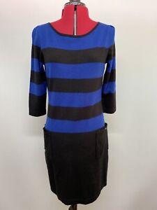 David Lawrence Striped Jumper Dress, Size Medium