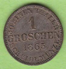 Hanover 1 Penny 1865 Nice nswleipzig