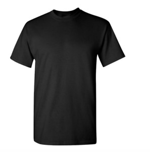 Gildan Cotton T-Shirts 5.3oz Blank Solid Short Sleeve Tee S-2XL ,,Style# 5000