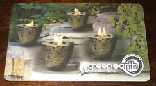 "GREEN EARTH CANADA GIFT CARD ""FIRE POTS"" NO VALUE NEW COLLECTIBLE"