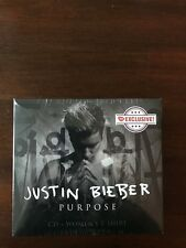 Purpose [CD with T-Shirt] by Justin Bieber CD FYE EXCLUSIVE SIZE LARGE L NEW NIB