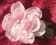 Pale Pink Peony Flower & Leaves OOAK Handcrafted Barrette Hair Clip~4 Halloween