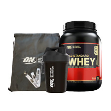 Optimum Nutrition 100% Gold Standard Whey Protein908g Isolate Powder BUNDLE