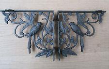 Pair of 1 BIRD WOODLAND ANTIQUE STYLE CAST IRON WALL SHELF BRACKETS BRACKET