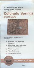 USGS Topographic Map COLORADO SPRINGS - Colorado - 1981 - 100K -