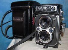 Vintage YASHICA Mat 124 TLR Camera Yashinon 80mm Lens,2.8 3.5 w/Case J00189