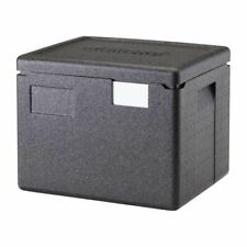 More details for cambro insulated top loading food pan carrier in black polypropylene - 22.3l