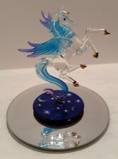 Celestial Pegasus 22kt Gold Accents Swarovski Crystals Glass Baron Figurine