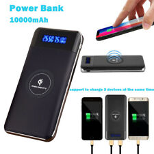 Qi Wireless Charging Power Bank Portable Battery Backup For iPhone X 8 8 Plus