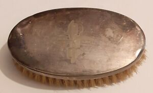 Vintage Silver Topped Clothes Brush