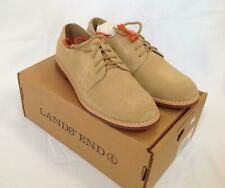 New Lands End boys chestnut brown oxford Bucks casual dress shoes Kids Youth 5