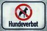 Hundeverbot Letrero de Metal Placa Signo Arqueado Tin 20 X 30CM