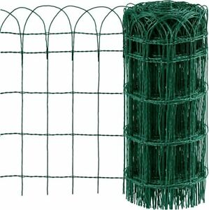Green PVC Coated Garden Border Fence Lawn Path Edging Wire Mesh Decorative Fence