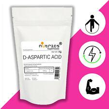 Nutrics ® 100% Pure D Acide Aspartique Grade Pharmaceutique Végétalien Poudre BULKBUY