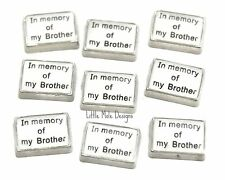 In Memory Of My Brother Floating Charm for Living Memory Locket Memorial Charms