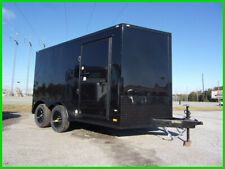 2020 Covered Wagon 7x12 2' v 14ft inside enclosed cargo Black Blackout New