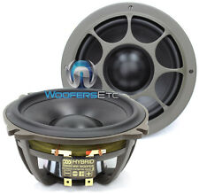 "MOREL HYBRID MW5 5.25"" CAR AUDIO 4 OHM MID WOOFERS & GRILLS PAIR NEW"