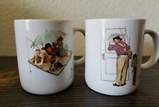 Norman Rockwell Coffee Tea Mug Cup Closed for Business Fisherman's Paradise
