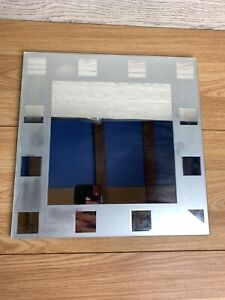 "Wall Mounted Square Mirror Tile Bathroom Mirror 11.5"" Square"