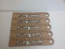Personalised Wooden mdf teacher end of term ruler gift