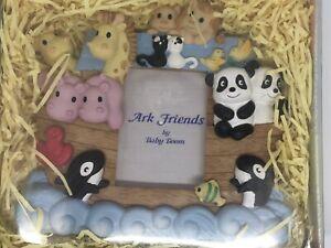 "Ark Friends Photo Frame Baby Boom 1 7/8"" X 2 5/8"" Nursery Animals Giraffes NIB"