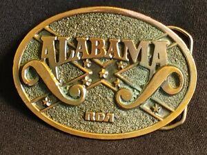 "VTG 1980'S ALABAMA RCA RECORDS OVAL BRASS 3"" BELT BUCKLE LYNYRD SKYNYRD HANK JR"
