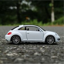 VW New Beetle Model Cars Toys 1:36 Open two doors Collection Alloy Diecast White