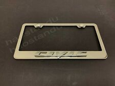 1x Forcivic 3d Emblem Stainless Steel License Plate Frame Rust Free Screw Cap Fits 2012 Honda Civic
