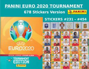 Panini EURO 2020 TOURNAMENT STICKERS - #231 - #454