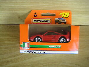 MATCHBOX SUPERFAST   MB18   FERRARI F40     ABSOLUTELY MINT