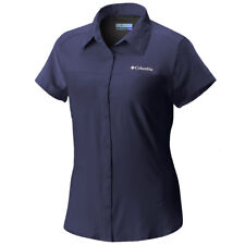 "Columbia ""meadowgate"" Omni Shade Omni Wick Blue Short Sleeve Shirt Size 3x"