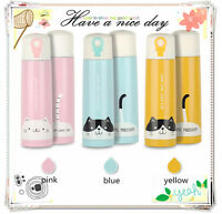 Cute Cat Stainless Steel Travel Mug Water Coffee Bottle Flask Vacuum Thermos Cup