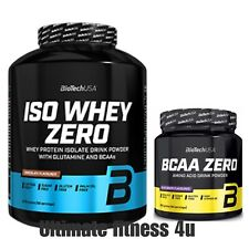 Biotech USA Iso Whey Zero 2.2kg in 22 Flavours + BCAA Zero in choice of flavours