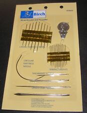 26 Assorted Needles &Threader Quality Sewing Handy For Repairs Curved Upholstery