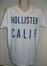 MEN'S HOLLISTER CALIF T'SHIRT size XL  in white with blue design on front