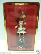 Lenox Silverplated Embellished Snowman Christmas Tree Ornament Windchime NEW