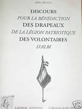 DISCOURS POUR LA BENEDICTION DES DRAPEAUX Albi TARN