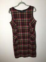Phase Eight Womens Checkered Sheath Dress Size 16 Sleeveless Good Condition