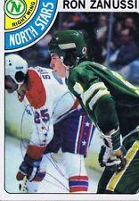 Ron Zanussi 1978 Topps Autograph #252 North Stars