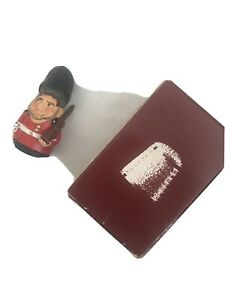 Lovely Carol Ann Pewter Thimbles Queen's Foot Guard Hinged Unique Collectible
