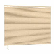 SPEEDY 25MM SLAT PVC NATURAL VENETIAN FIXED BLIND KIT CHILD SAFE 160 200CM DROP