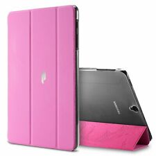 Galaxy Tab S3 9.7 Tablet Smart Case Poetic Trifold Leather Flip Cover Hot Pink