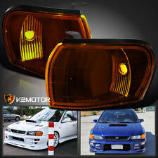 For 1995-2001 Subaru Impreza Wrx Amber Corner Lights Turn Signal Park Lamps Pair