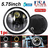 """DOT 5.75 5-3/4"""" Halo LED Projection Headlight For Sportster XL 883 1200 Dyna"""