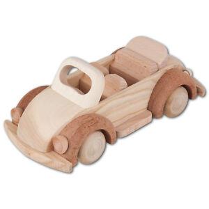 Hofmeister Cabriolet aus Holz 19cm Holzauto Käfer Holzspielzeug Fahrzeug