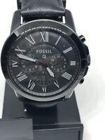 Fossil NDW1 Quantity 8 Men's Black Leather Analog Black Dial Wrist Watch KG181